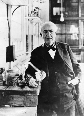 Thomas Edison, inventor of the lightbulb